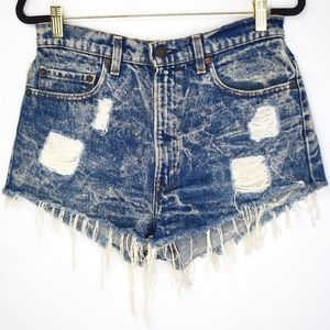 Vintage Acid Wash High Rise Levi's Cut Off Shorts
